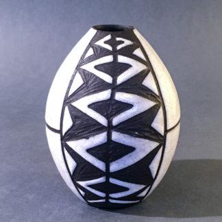 Vase Michael Andersen tribal/negro serie