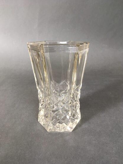 sekskantet krystalvase