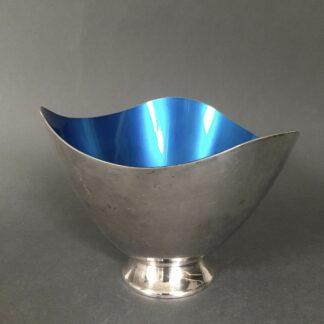 Sølvplet skål